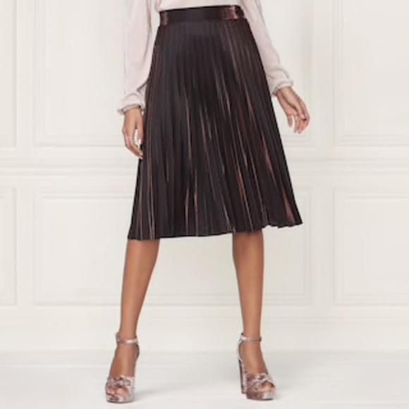 4ba296a0d LC Lauren Conrad Skirts | Nwt Lauren Conrad Runway Copper Pleated ...